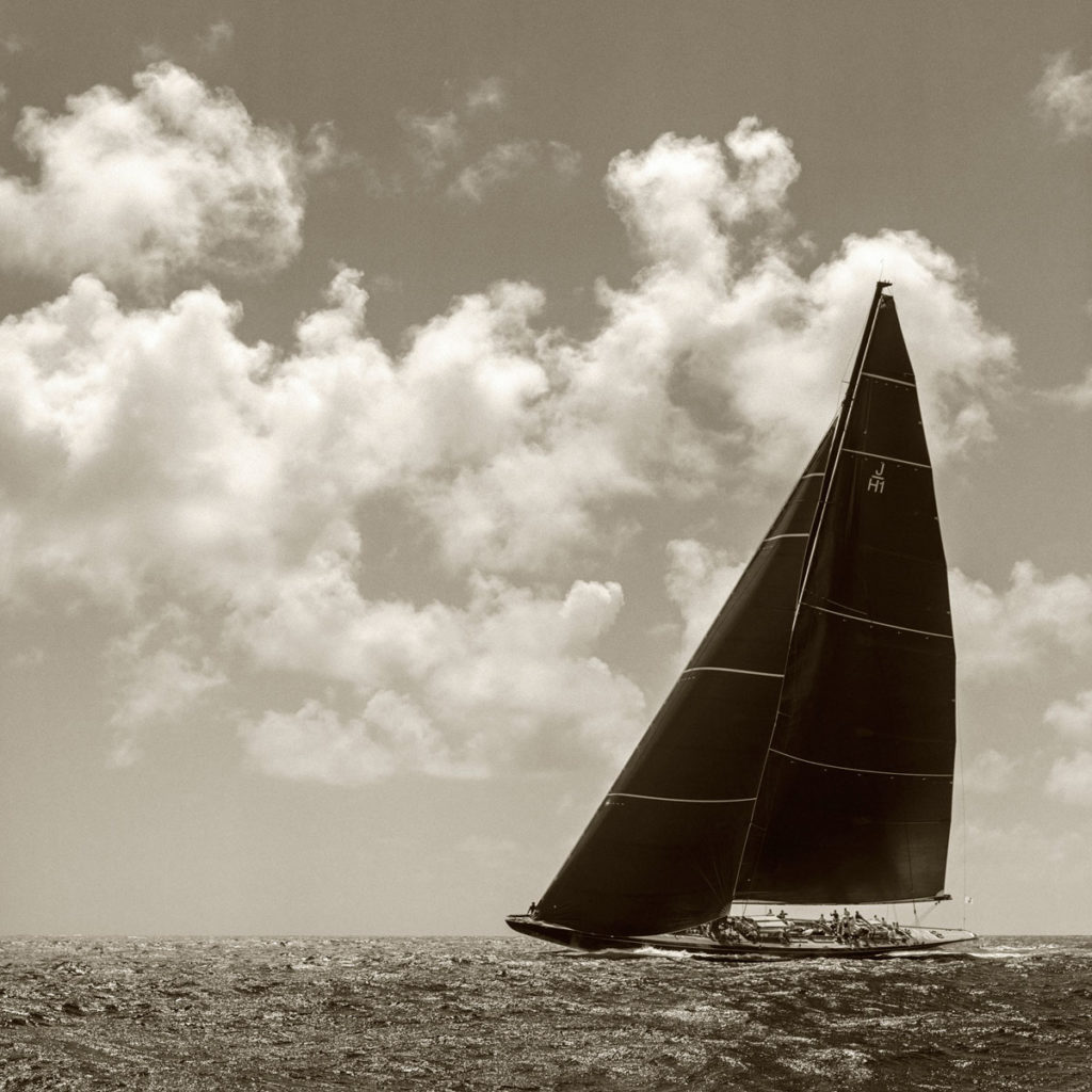 Photograph of J Class Lionheart sailing at St Barths Bucket Regatta
