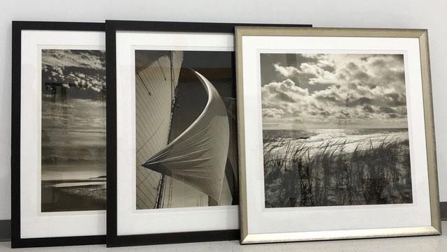 Set of three framed photographs by Michael Kahn
