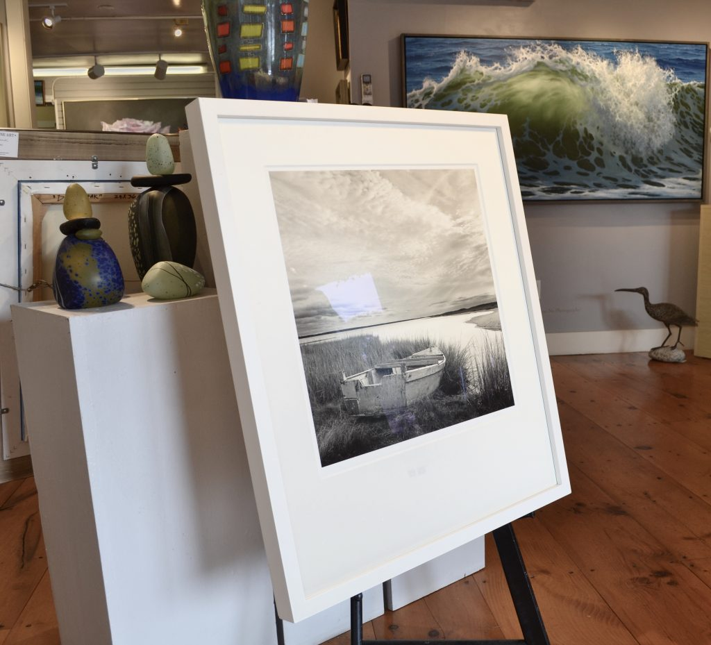 "Michael's photograph ""Off Season"" on display at Sheldon Fine Art, Newport RI"