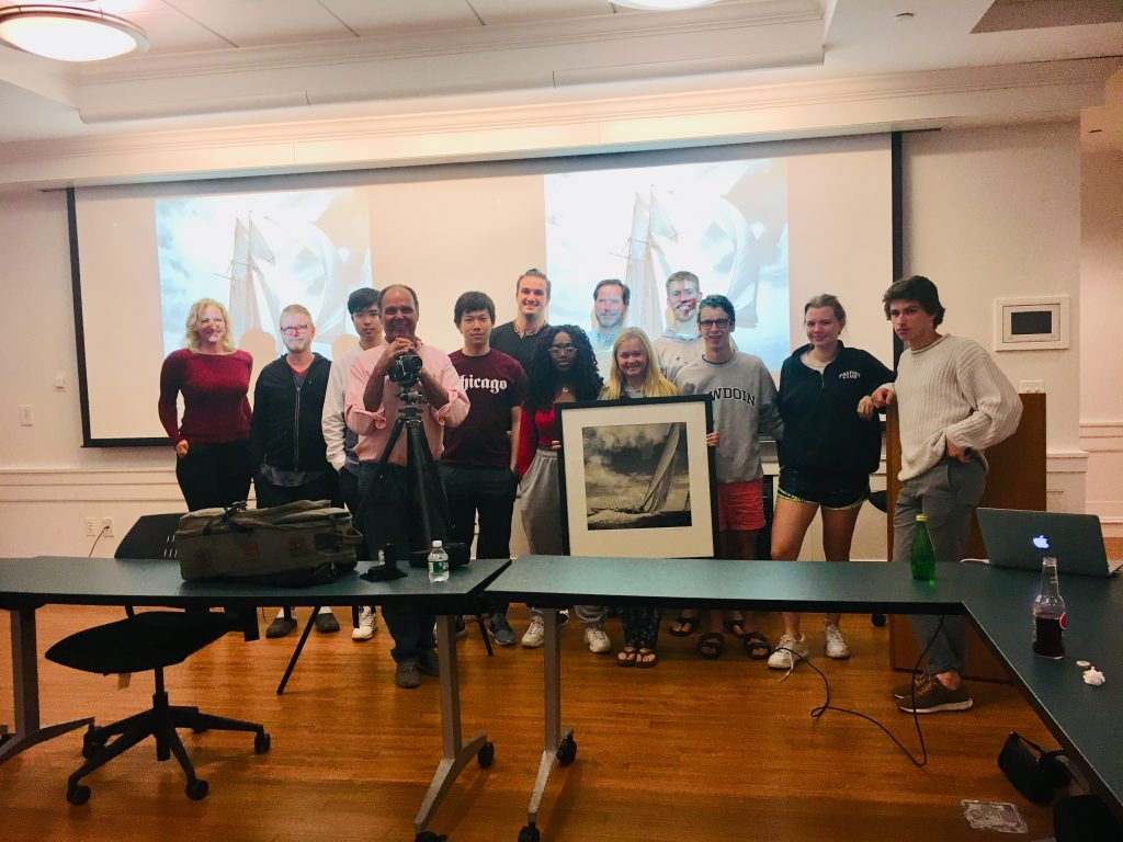 Michael gave a presentation to photography students at the Kent School, CT
